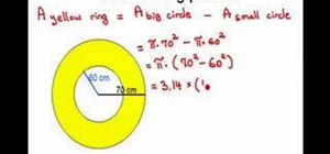 Find the area of a ring w/ the areas of 2 circles
