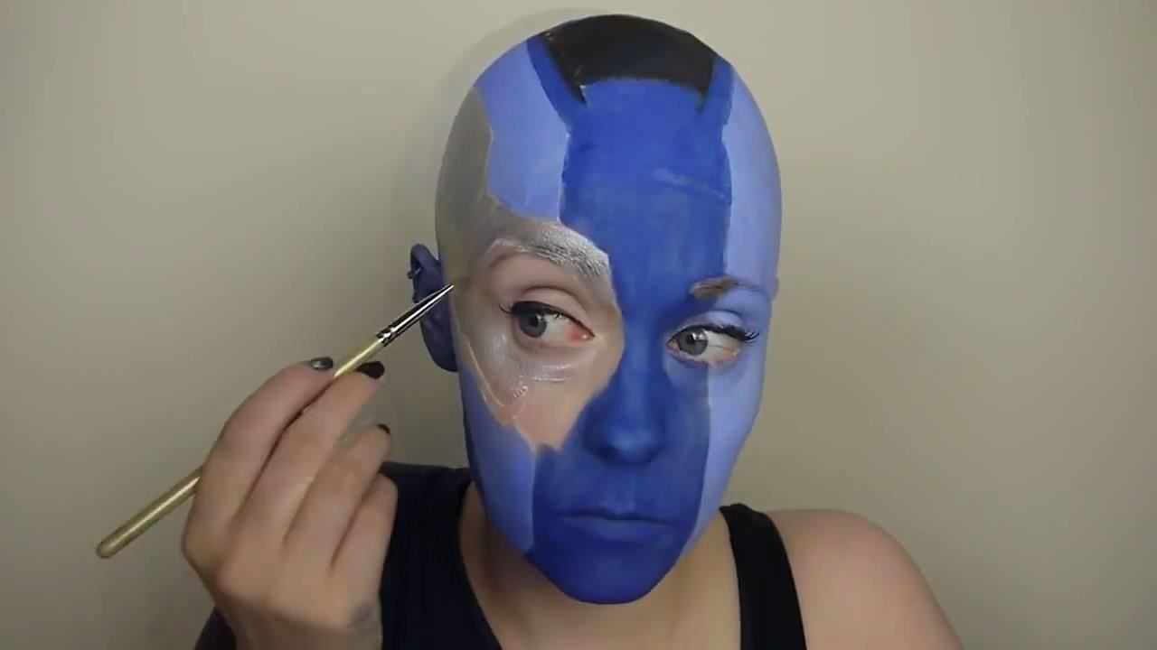 How to Be as Angry, Bald & Blue as Nebula from 'Guardians of the Galaxy' for Halloween