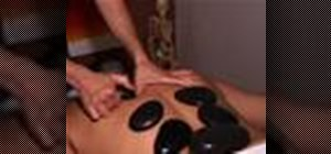 Give a hot stone massage for relaxation