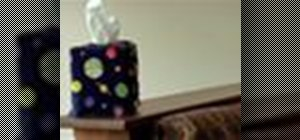 Sew up a tissue box cover