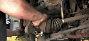Change out the front wheel bearings on a Ford Windstar