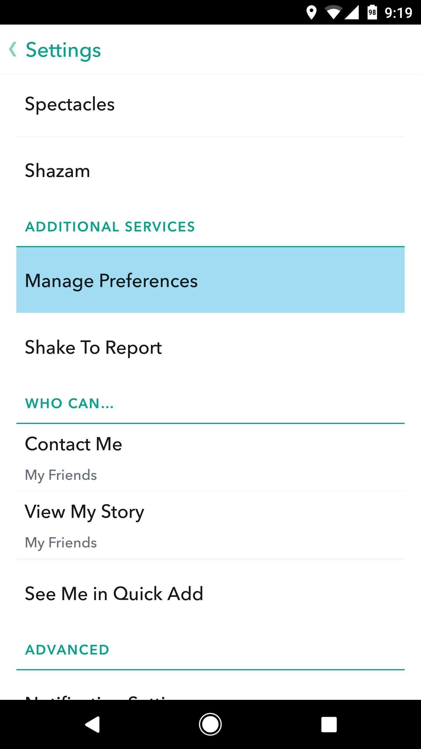 Make Snapchat Use Less Battery Life & Data on Android