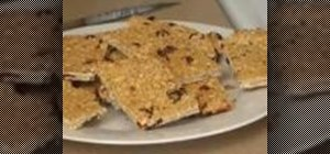 Make cranberry almond granola bars