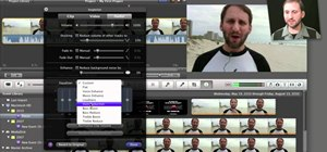 Edit and apply effects to an audio track in Apple iMovie 11