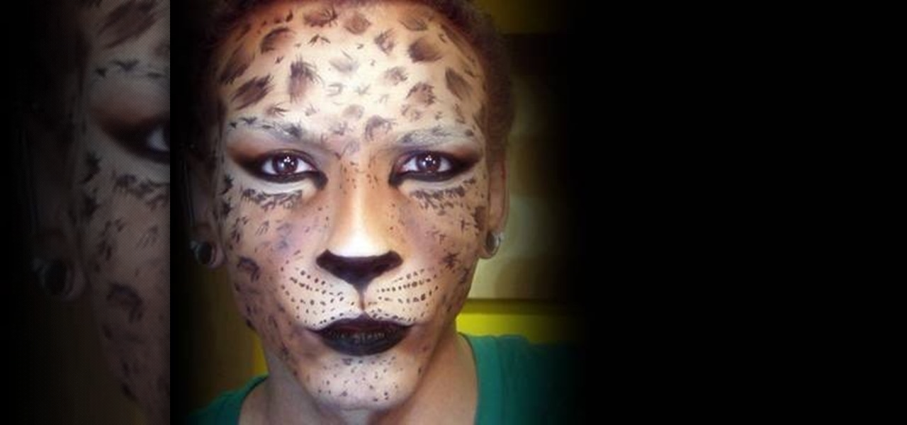 How to Create a Halloween leopard or cheetah face with makeup ...