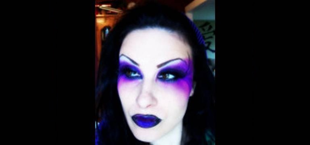 How to Create a purple dark fairy makeup look for - How To Make Halloween Makeup