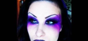 Create a purple dark fairy makeup look for Halloween
