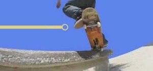 Do frontside crooked grinds on the skateboard