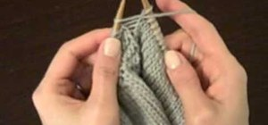 How To Increase Stitches In Knitting Continental : How to Increase Stitches on a Purl Row   Knitting & Crochet