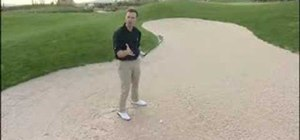 Play the long greenside bunker shot