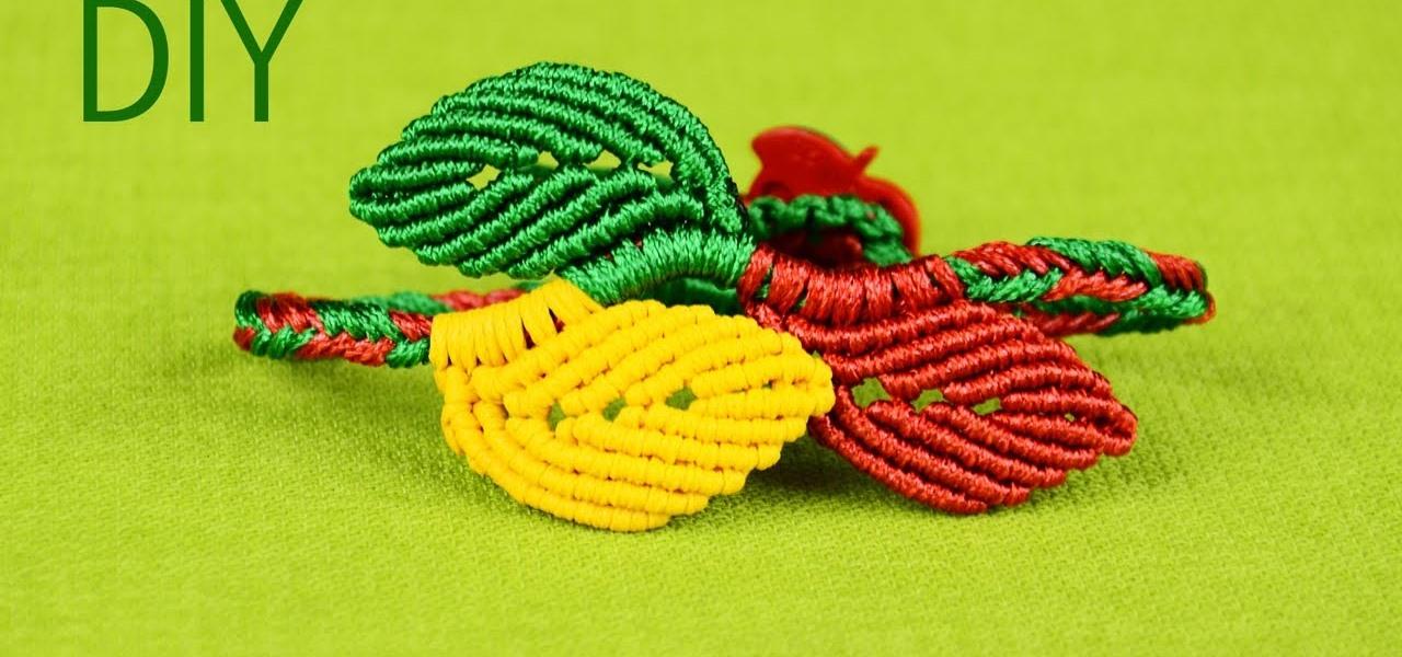 Macrame Leaf Bracelet Tutorial