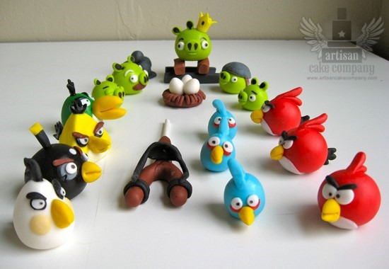 For the Angry Birds addict in your life - edible cake toppers!