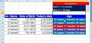 Conditionally format with MS Excel's DATEDIF function