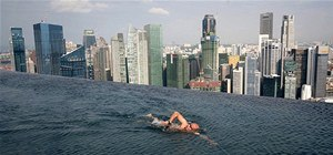 Careful. Swim off the Edge, Fall 55 Stories to Your Death