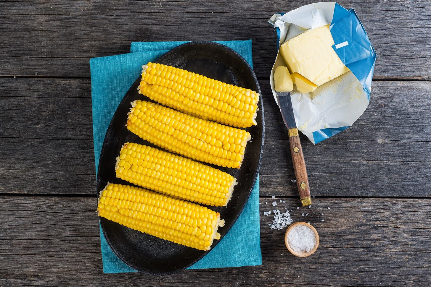 Genius—Butter Corn on the Cob While You're Cooking It, Not After