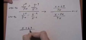 Simplify complex fractions in math