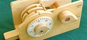 Wooden Combination Lock Demonstrates Inner Workings