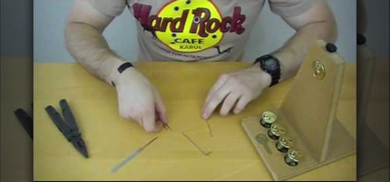 How To Make A Lock Pick Out Of A Paper Clip And Multi Tool