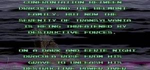 Walkthrough Super Castlevania IV on the SNES