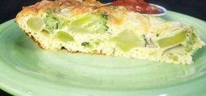 Make a broccoli quiche for breakfast
