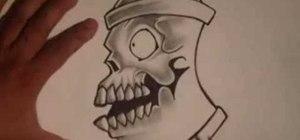 Draw a skull spraycan with Wizard