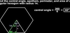 Find the area of a hexagon