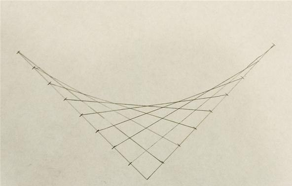Drawing Using Curved Lines : How to create parabolic curves using straight lines « math