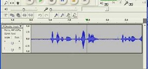 Record audio using Audacity