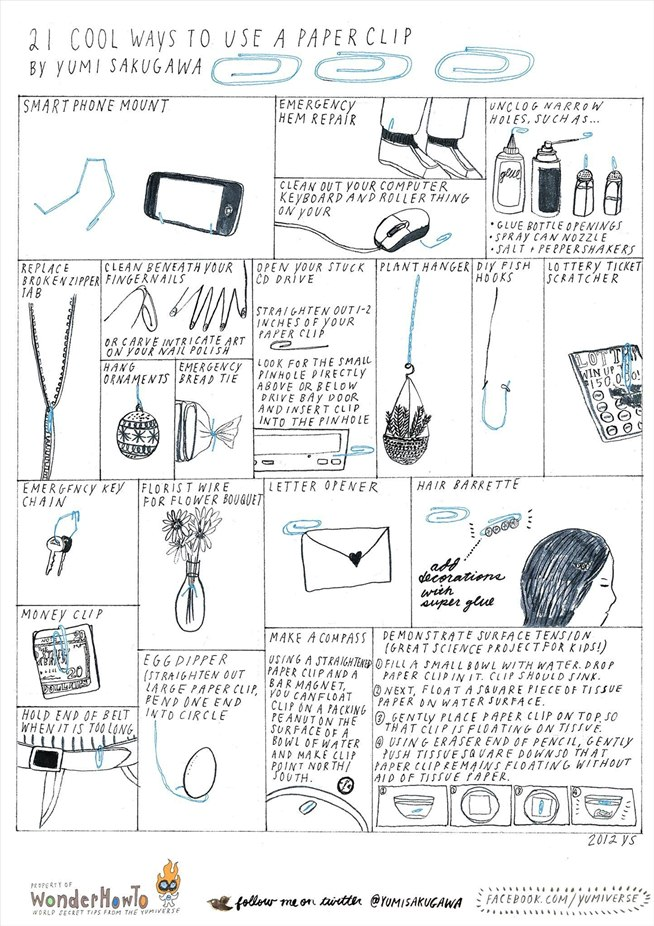 21 cool ways to use a paper clip  u00ab the secret yumiverse