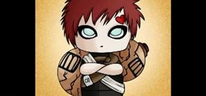 Draw an anime Chibi Gaara from Naruto