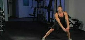 Strengthen your legs with side lunges and shoe taps
