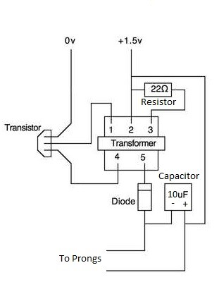 How To Build A Taser Capacitor on bug zapper circuit schematic