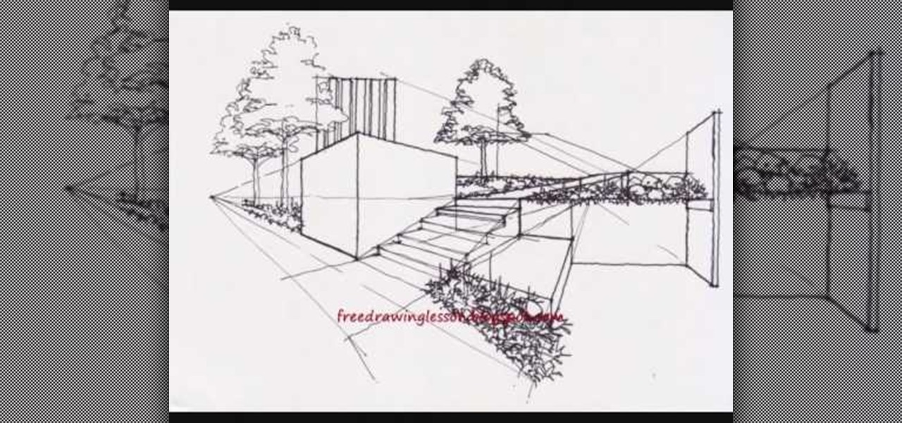 How To Draw Architectural Landscape Drawing Illustration