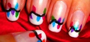Create holiday lights nail art