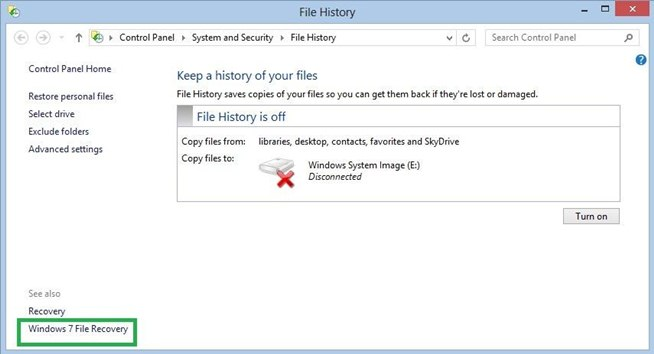 how to find backed up files on computer