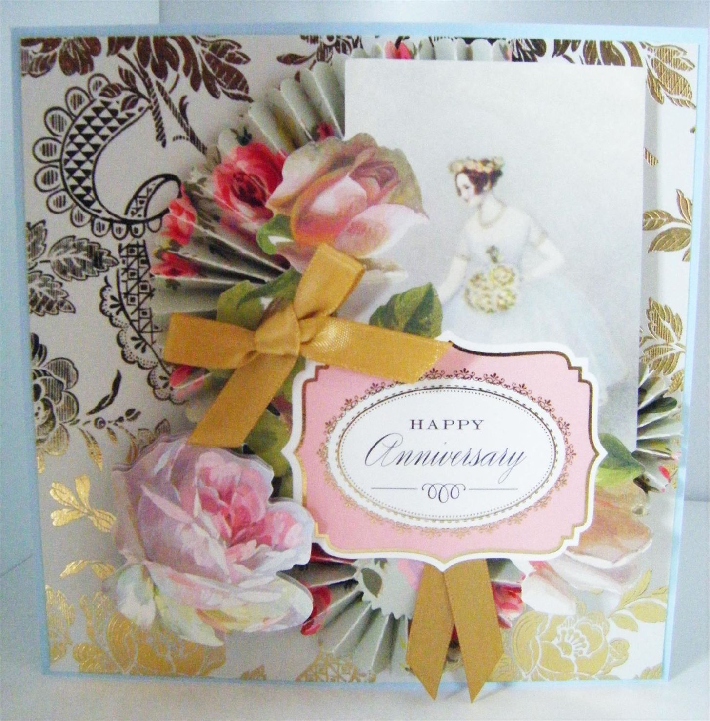 How to Make a Vintage Anniversary Topper Card