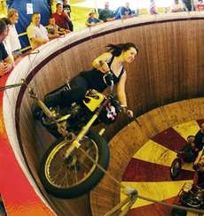 The World's Youngest Female Wall Of Death Rider