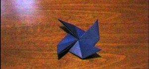 Fold an easy origami windmill/pinwheel