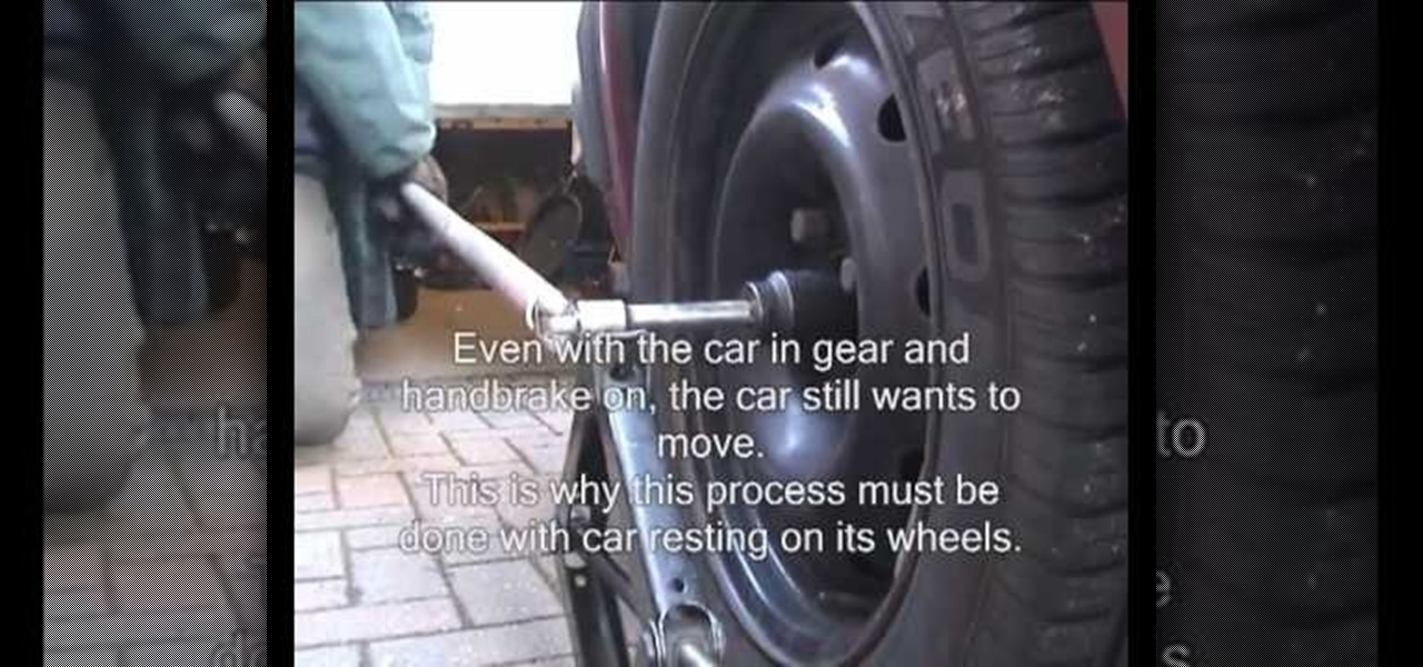 Car Stereo Repair >> How to Remove a driveshaft hub nut on a front-wheel drive (FWD) vehicle « Auto Maintenance ...