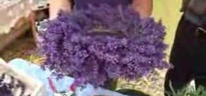 Make a lavender wreath