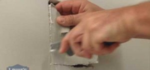 Repair cracks and holes in drywall with Lowe's