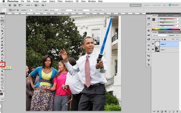 Master the Light Side of the Photoshop Force—Create a Lightsaber!