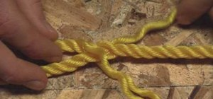 Splice a loop into the end of a three strand rope