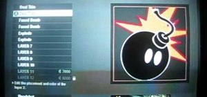 Make the Adam Bomb logo in the Call of Duty: Black Ops emblem editor