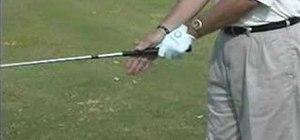 Grip the golf club correctly