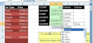 Name cell ranges and use names in formulas in MS Excel