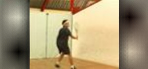 Do a Squash backhand volley, boast, drive off