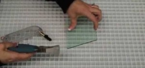 Use a glass cutter & runner