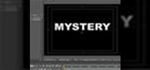 Create a mystery text effect in Adobe After Effects