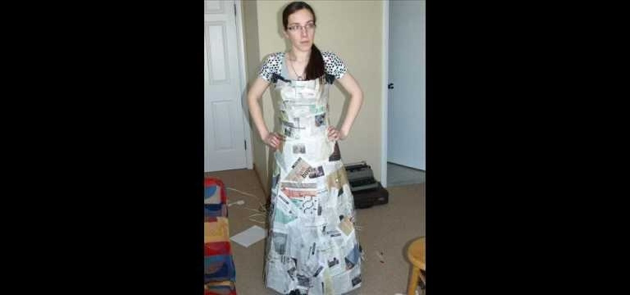 How To Make A Ball Gown Out Of Trash Bags And Newspapers
